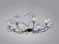 Gomitoli Kronleuchter, Kronleuchter aus Glas arbeitete mit Murano-Techniken