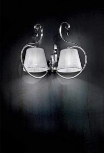 Romantica applique, Wandleuchte mit Rahmen aus verchromtem Metall