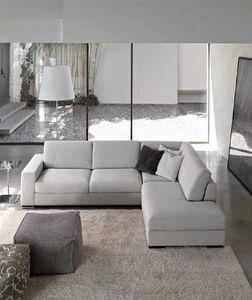 Times, Moderne Sofa mit Halbinsel, mit Polyurethan gepolstert