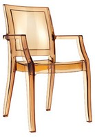 Ambra, Beständig Stuhl, aus Polycarbonat, für Eiscafes