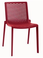 Kiranet-S, Moderne Kunststoff-Stuhl, stapelbar, für Pizzeria