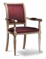 GABRY Stuhl mit Armlehnen 8257A, Stuhl mit Buchenholz Armlehnen, gepolstert, verschiedene Ausführungen