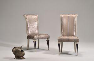JUSTINE Stuhl 8361S, Polsterstuhl, klassischer Stil, buche, hohe Rücken