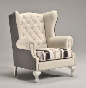KOLE Sessel 8540A, Luxuriöse Sessel, hohe gesteppte Rücken, für Villen