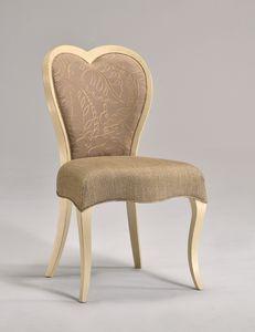 LOVE Stuhl 8528S, Klassische Buche Stuhl, herzförmige Rückenlehne