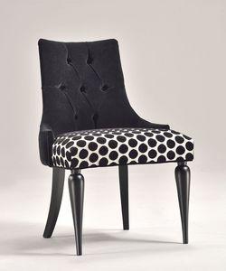 MARGOT Stuhl 8359S, Zeitgenössischen klassischen Stuhl, gepolsterter Sitz, in Buche