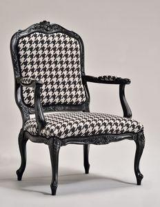 MARIE Sessel 8537A, Klassischer Sessel, Buche Basis, gepolstert, für Wohnzimmer