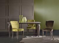 MARILYN Stuhl 8301S, Klassischer Stuhl mit gepolstertem Sitz, aus massiver Buche