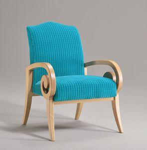 MIRA Sessel 8236A, Sessel mit Buchenholz Armlehnen, zeitgenössische klassische