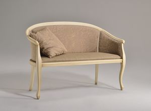 POZZETTO Sofa 8032L, Elegante Sofa aus Buche, gedrechselte Beine, für das Büro