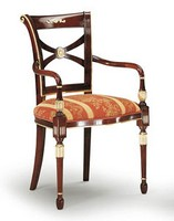 SILVIA Stuhl mit Armlehnen 8090A, Polsterstuhl mit Armlehnen, verschiedene Farben, für Hotelzimmer