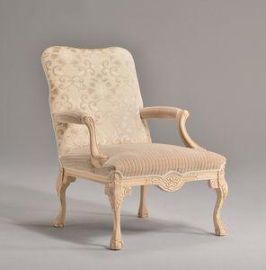 STRADIVARI Sessel 8261A, Kuvertierung Luxus-Sessel, in Buche, für Hotel-Lobby