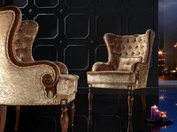 VALERIA Sessel 8495A, Klassischer Sessel, gesteppt zurück, für luxuriöse Residenz