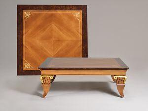 VINCENT kleinen Tisch 8445T, Traditioneller Couchtisch, aufwendig von Hand geschnitzten Beinen