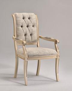 WENDY Stuhl mit Armlehnen 8286A, Traditioneller Stuhl mit Armlehnen, anpassbare