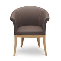 Gilda, Gepolsterten Sessel mit Beinen aus Buche, für den Objektbereich