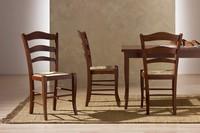 Montanara, Rustikal Stuhl aus Holz, Stroh Sitz, für die Küche