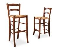 Veneta Barhocker, Rustikal Stuhl aus Buchenholz, Sitzfläche, für Bars