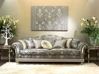 Etoile, Luxury klassischen Sofa für Hall, Hand geschnitzt
