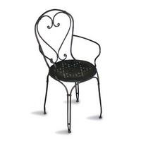 CHF04, Stapelbare Sessel aus lackiertem Metall, für Garten