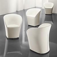 Maddy, Tub Stuhl mit abnehmbarem Deckel, für Wartezimmer