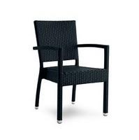 Giglio Stuhl mit Armlehnen, Chair in Aluminium und geflochtenen Rattan, für den Außenbereich