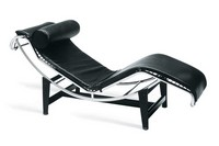 Chaise longue, Bequeme Liegestuhl, Gestell aus verchromtem Stahl