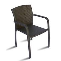 CHW50, Sessel mit geflochtener Weide, für den Außenbereich