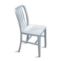 Trattoria Stuhl, Leichte Aluminium-Stuhl für Garten und Schwimmbad
