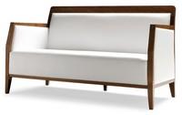 PL 49 EN, Linear Sofa in Holz, Leder-Polsterung