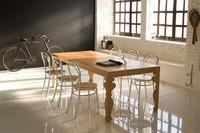 Madame-AL, Stuhl mit Struktur aus Aluminium, für Snack-Bar