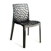 Gruvyer, Stuhl aus Polycarbonat, spritzgegossen, für den Außenbereich