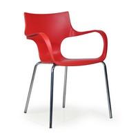 Jim, Polypropylen Stuhl mit Armlehnen, für Warteräume