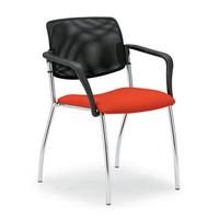 Laila 0583L, Stuhl mit Netzrücken, für Räume und Büros zu treffen