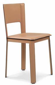 Alex 2.0 Stuhl niedrigen 10,0002, Stühle mit Leder bezogen
