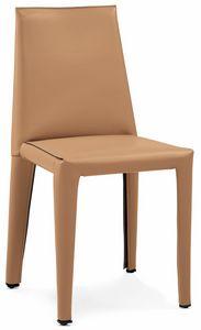 Dab Stuhl 10.0150, Stuhl In Leder Gepolstert