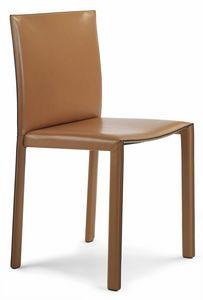 Pasqualina Stuhl 10.0080, Stuhl komplett mit Leder bezogen