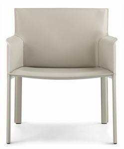 Pasqualina relax Sessel 10.0089, Kleiner Sessel mit großem Sitz, in Leder