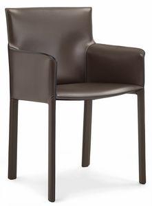Pasqualina Sessel 10.0090, Kleiner Sessel mit Lederbezug