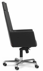 Web Sessel president mit Kopfstütze 10.0114, Bürostuhl mit hoher Rückenlehne