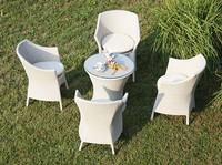 Frodo set, Geflochtenen Stuhl und Tisch, Aluminium-Struktur, Außenbereich
