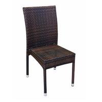Belinda, Gewebte Stuhl für den Außenbereich, stapelbar, Aluminium-Rahmen