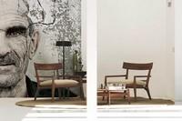 Teresa, Design-Sessel aus Massivholz, für Aufenthalte