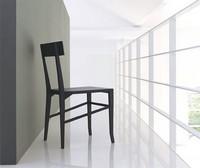 Santorini, Esszimmerstuhl aus Holz, für die Restaurants