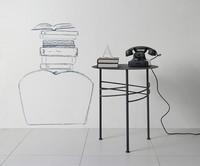 Ariel Couchtisch, Kleine lineare Metalltisch für Wartezimmer und Büro