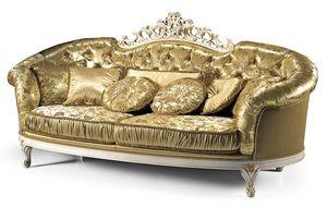 1736/L, Sofas mit Capitonnè für klassische Wohnzimmer