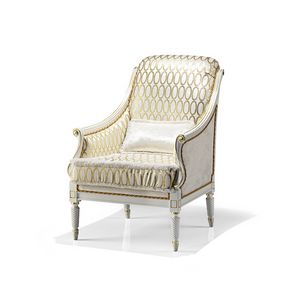 1742/A, Luxussessel, weiß lackiert