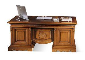 1496V2, Intarsien-Schreibtisch aus Holz