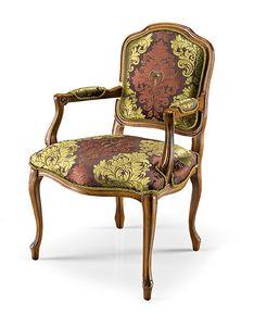 1026/A, Luxuriöser Stuhl mit Armlehnen