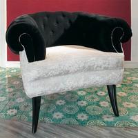 Audrey, Klassischer Luxus Sessel mit gesteppte Abdeckung